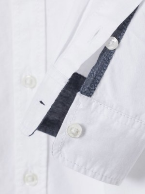 Рубашка H&M Cotton Shirt 110 см белый H&M фото 1