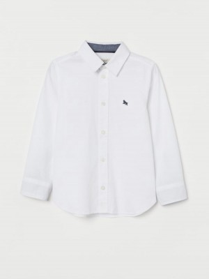 Рубашка H&M Cotton Shirt 110 см белый H&M