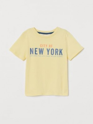 Футболка H&M New York желтая H&M