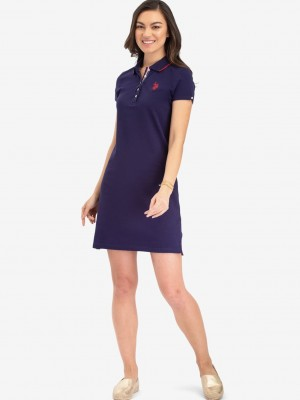 Платье U.S. POLO ASSN. Tipped polo dress синий U.S. POLO ASSN