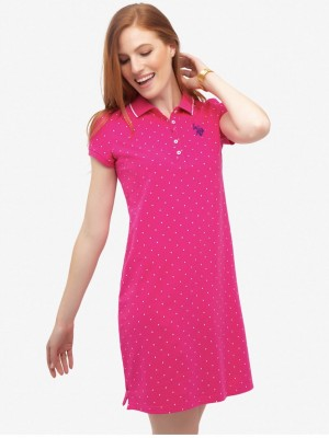 Платье U.S. POLO ASSN. Dot polo dress розовый U.S. POLO ASSN