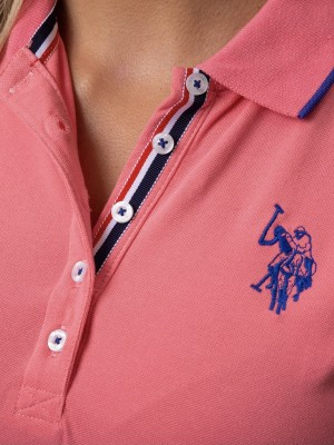 Платье U.S. POLO ASSN. Bubble Gum персиковое U.S. POLO ASSN фото 3